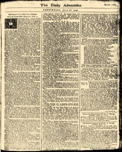 London Daily Advertiser, July 20, 1734, Page 1