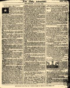 London Daily Advertiser, July 22, 1734, Page 1