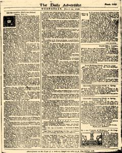 London Daily Advertiser, July 24, 1734, Page 1