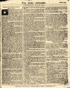 London Daily Advertiser, July 27, 1734, Page 1