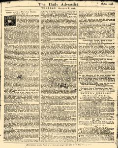 London Daily Advertiser, August 06, 1734, Page 1