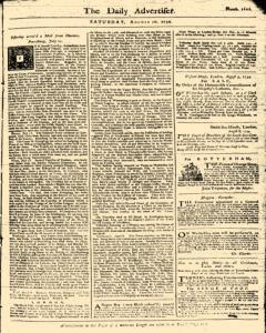 London Daily Advertiser, August 10, 1734, Page 1