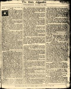 London Daily Advertiser, August 15, 1734, Page 1