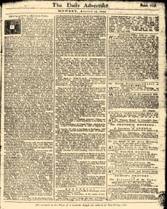 London Daily Advertiser, August 19, 1734, Page 1