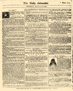 London Daily Advertiser, August 30, 1734, Page 1