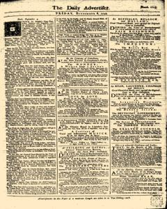 London Daily Advertiser, September 06, 1734, Page 1