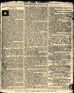 London Daily Advertiser, September 09, 1734, Page 1