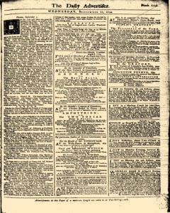 London Daily Advertiser, September 11, 1734, Page 1