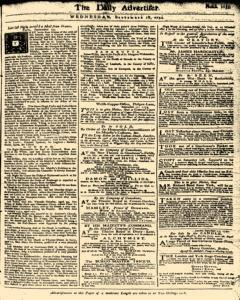 London Daily Advertiser, September 18, 1734, Page 1
