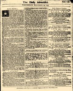 London Daily Advertiser, September 19, 1734, Page 1