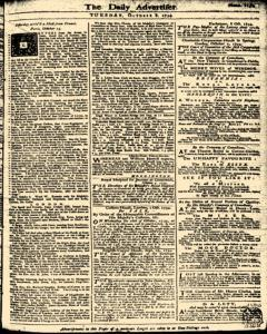 London Daily Advertiser, October 08, 1734, Page 1