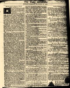 London Daily Advertiser, October 09, 1734, Page 1