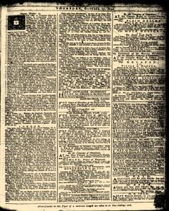 London Daily Advertiser, October 17, 1734, Page 1