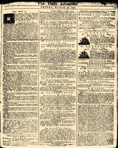 London Daily Advertiser, October 25, 1734, Page 1