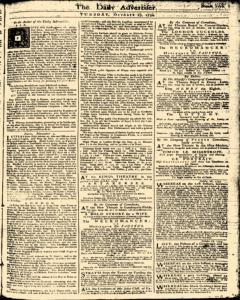London Daily Advertiser, October 29, 1734, Page 1