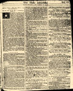 London Daily Advertiser, November 02, 1734, Page 1