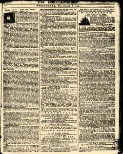 London Daily Advertiser, November 06, 1734, Page 1