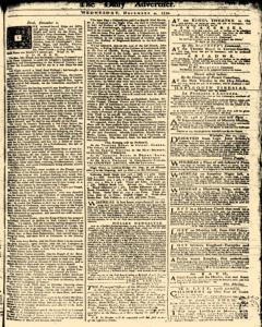 London Daily Advertiser, December 04, 1734, Page 1