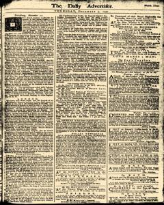 London Daily Advertiser, December 05, 1734, Page 1