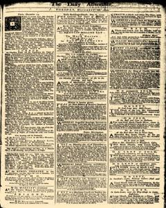 London Daily Advertiser, December 10, 1734, Page 1