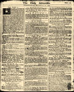 London Daily Advertiser, December 11, 1734, Page 1