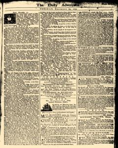 London Daily Advertiser, December 24, 1734, Page 1