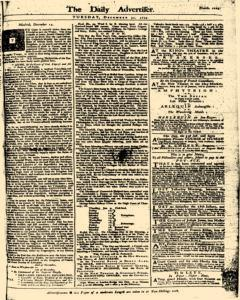 London Daily Advertiser, December 31, 1734, Page 1