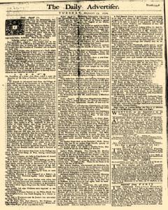 London Daily Advertiser, August 13, 1754, Page 1
