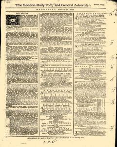 London Daily Post And General Advertiser, March 30, 1743, Page 1