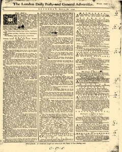 London Daily Post And General Advertiser, April 16, 1743, Page 1