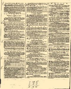 London Daily Post and General Advertiser, April 19, 1743, p. 2