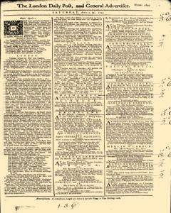 London Daily Post And General Advertiser, April 23, 1743, Page 1