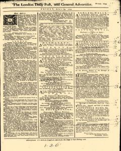 London Daily Post And General Advertiser, April 29, 1743, Page 1