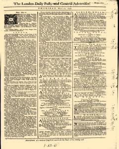 London Daily Post And General Advertiser, May 12, 1743, Page 1