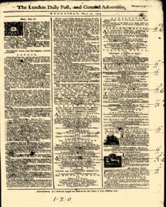 London Daily Post And General Advertiser, May 18, 1743, Page 1