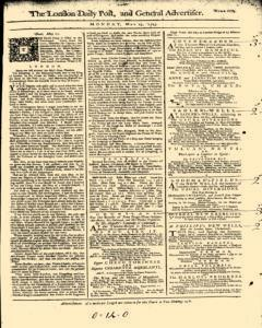 London Daily Post And General Advertiser, May 23, 1743, Page 1