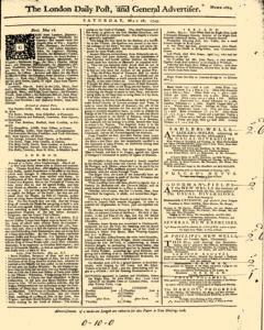 London Daily Post And General Advertiser, May 28, 1743, Page 1