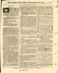 London Daily Post And General Advertiser, June 02, 1743, Page 1