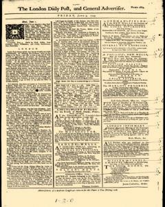 London Daily Post And General Advertiser, June 03, 1743, Page 1
