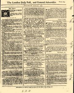 London Daily Post And General Advertiser, June 10, 1743, Page 1