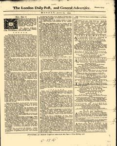 London Daily Post And General Advertiser, June 20, 1743, Page 1