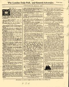 London Daily Post And General Advertiser, June 21, 1743, Page 1