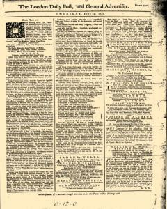 London Daily Post And General Advertiser, June 23, 1743, Page 1