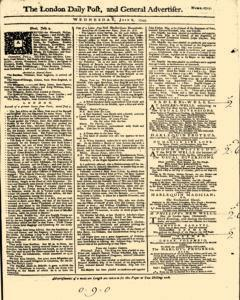 London Daily Post And General Advertiser, July 06, 1743, Page 1