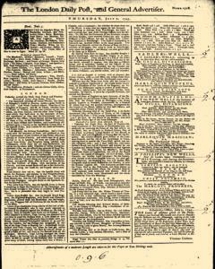 London Daily Post And General Advertiser, July 07, 1743, Page 1