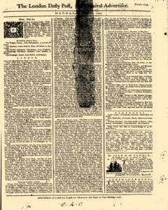 London Daily Post And General Advertiser, August 01, 1743, Page 1