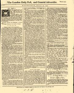 London Daily Post And General Advertiser, August 24, 1743, Page 1