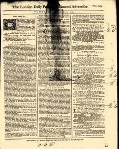 London Daily Post And General Advertiser, September 01, 1743, Page 1