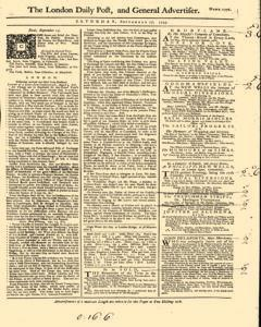 London Daily Post and General Advertiser, September 17, 1743, p. 2
