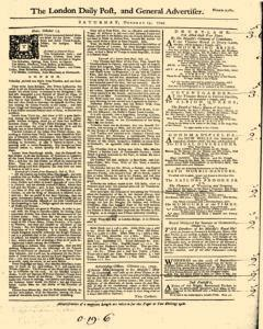 London Daily Post And General Advertiser, October 15, 1743, Page 1